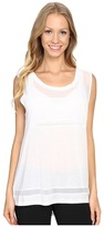 Zobha Sleeveless Muscle Tee w/ Sheer Panels