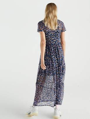 Very Animal Mesh Maxi Dress - Leopard Print