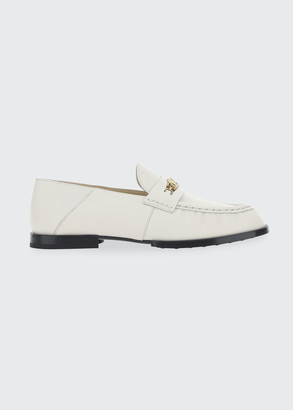 Tod's Leather Chain Flat Loafers
