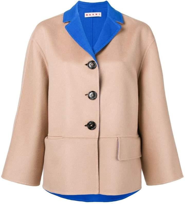 Marni two tone button-down jacket
