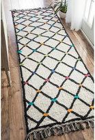 nuLoom Contemporary Handmade Trellis Multi Runner Rug (2'6 x 10')