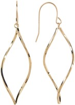 Candela 14K Yellow Gold Twisted Marquise Shaped Dangle Earrings