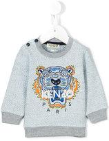 Kenzo embroidered logo sweatshirt - kids - Cotton/Polyester - 12 mth