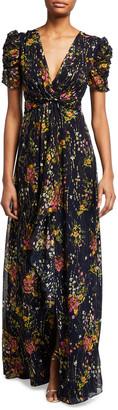 Shoshanna Concetta Prairie Floral Print Short-Sleeve Dress