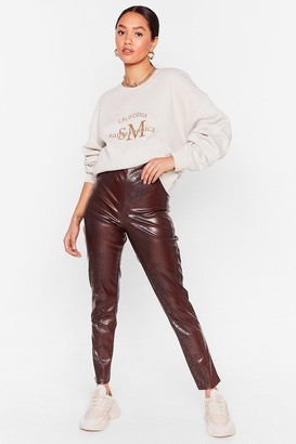 Nasty Gal Womens Snake 'Em Stop and Stare Petite Leggings - Brown - 6, Brown