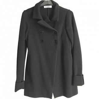 Jil Sander Black Wool Coat for Women