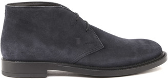 Tod's Tods Desert-boots In Suede With Embossed Logo