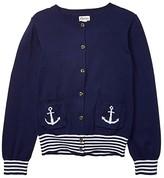 Hatley Nautical Navy Cardigan (Toddler/Little Kids/Big Kids) (Blue) Girl's Clothing
