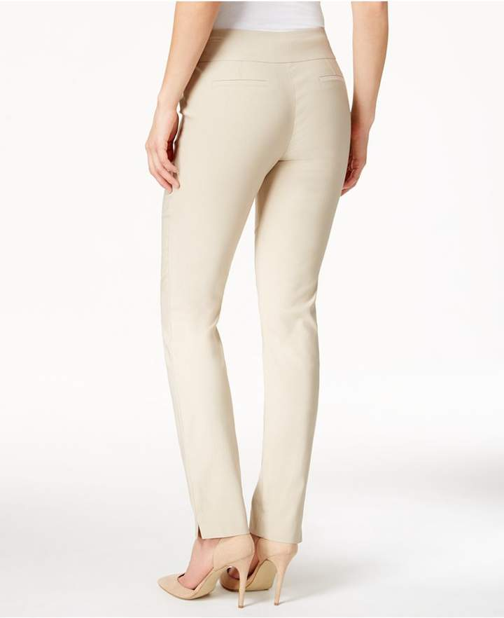 Charter Club Cambridge Tummy-Control Slim-Leg Pants, Created for Macy's