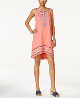 Style&Co. Style & Co Embroidered High-Low Dress, Only at Macy's