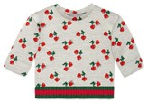 Gucci Infant Girl's Heart Cherry Sweatshirt