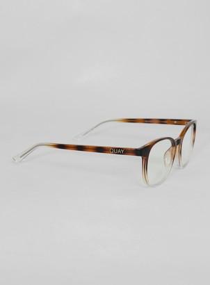 Topman QUAY Blue Blueprint Sunglasses*