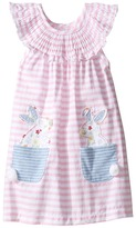 Mud Pie Bunny Pocket Dress Girl's Dress