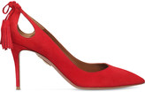 Aquazzura Forever Marilyn 85 suede courts