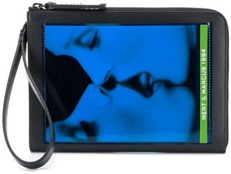 DSQUARED2 x Mert and Marcus printed pouch