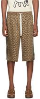 Gucci Brown G Rhombus Shorts