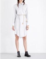 Joseph Stripe-print silk shirt dress