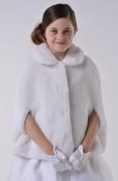 Us Angels Girl's Communion Faux Fur Cape