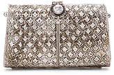 From St Xavier Zara Clutch in Metallic Silver.