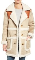 Moon River Faux Shearling & Faux Leather Jacket