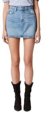 Hudson Viper Cotton Denim Mini Skirt