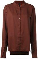 Ilaria Nistri mandarin neck shirt - women - Cupro - 42