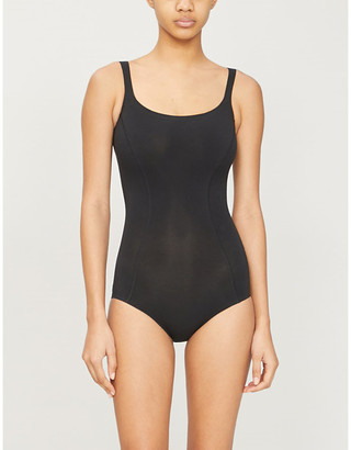 Wolford Scoop-neck stretch-cotton body