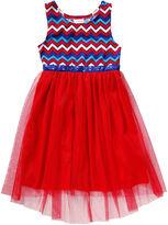 Youngland Young Land Sleeveless Americana Chevron Hi-Low Dress - Preschool Girls 4-6x