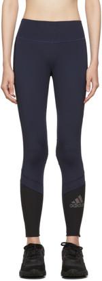 adidas Navy How We Do Warm Colorblock Leggings