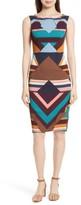 Tracy Reese Women's Print Stretch Silk Sheath Dress