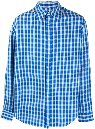 Martine Rose Wonky plaid shirt