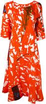 Daniela Gregis - illustrated print dress - women - Linen/Flax - 1