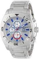 Akribos XXIV Men's AK652SS Grandiose Swiss Multifunction White Carbon Fiber Dial Silver-tone Bracelet Watch