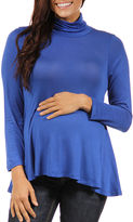 24/7 Comfort Apparel 24-7 COMFORT APPAREL Turtleneck Pullover Sweater-Maternity