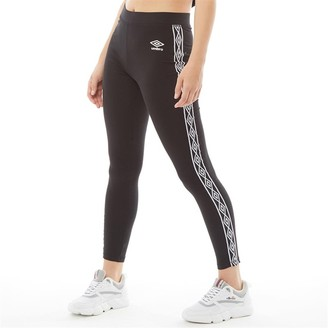 Umbro Womens Active Style Cotton Taped Leggings Black
