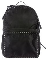 Valentino Rockstud Leather-Trimmed Backpack w/ Tags