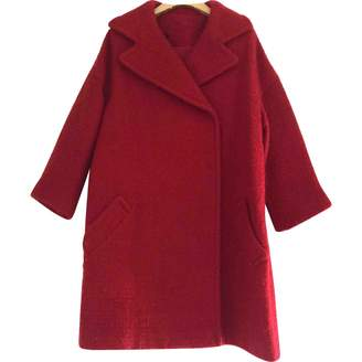 Giambattista Valli Red Wool Coat for Women