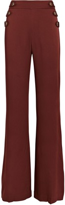Veronica Beard Romily Buttoned Flare Pants