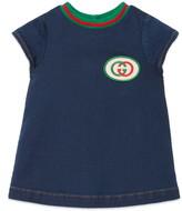 Gucci Logo Patch Denim Dress