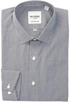Ben Sherman Black & White Dobby Check Trim Fit Dress Shirt