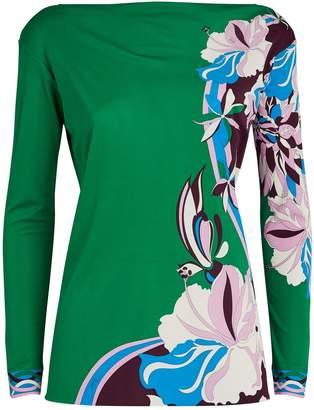 Emilio Pucci Vahine Print Long-Sleeved Blouse