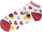 For Bare Feet Women's Washington Redskins Heart Logo Repeat Socks
