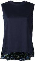 CLANE sleeveless floral hem top - women - Cotton/Rayon - 1