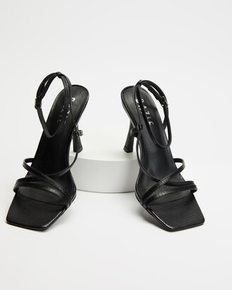 Dazie - Women's Black Heeled Sandals - Marie Heels - Size 5 at The Iconic