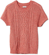 L.L. Bean Signature Lightweight Fisherman Sweater, Short-Sleeve Marled