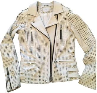 IRO Spring Summer 2018 White Leather Leather jackets