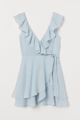 H&M Flounce-trimmed wrap dress