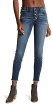 KUT from the Kloth Brigitte Frayed Hem Skinny Ankle Jeans