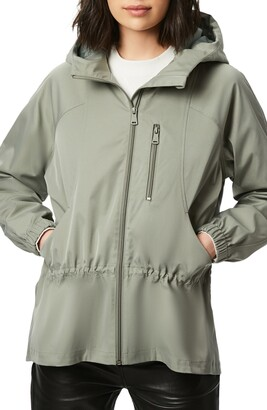Bernardo Water Resistant Hooded Rain Jacket