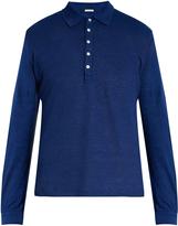 Massimo Alba Raya long-sleeved linen polo shirt